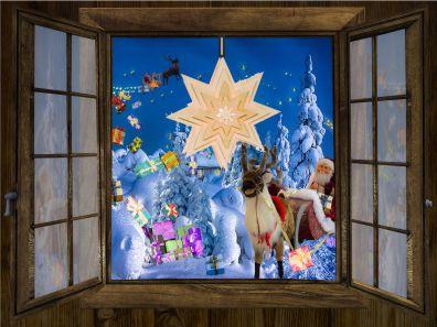 Fensterschmuck und Weihnachtssterne