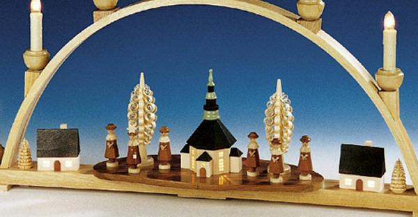 geschenkehaeusel schwibbogen seiffener kirche innenbeleuchtet 202 289. Black Bedroom Furniture Sets. Home Design Ideas