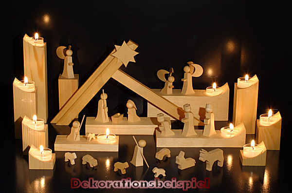 Weihnachtskrippe Modern.Krippe Modern Line Lichtsockel Groß