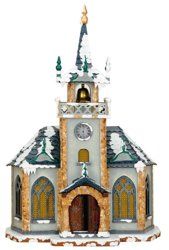 Winterkinder Winterhaus Kirche elektrisch