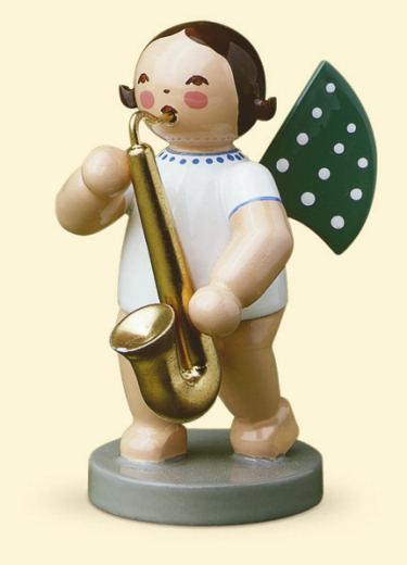Grünhainichener Engel mit Saxophon