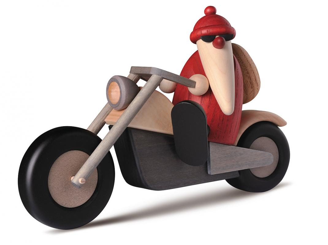 Björn Köhler Weihnachtsmann auf Motorrad