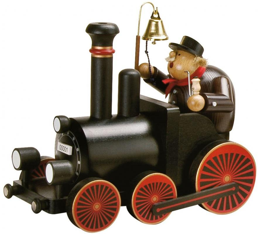 KWO Räuchermann Lokomotive mit  Lokführer