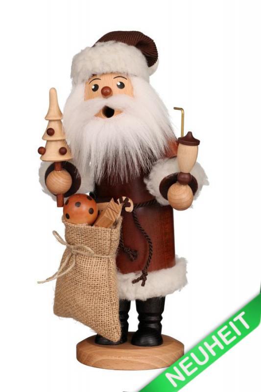 Räuchermann Weihnachtsmann natur NEU 2021