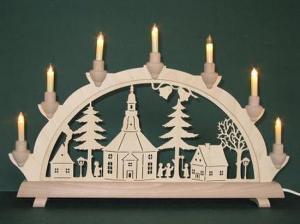 Lichterbogen Seiffener Kirche einfach klein