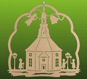 Fensterbild Seiffener Kirche