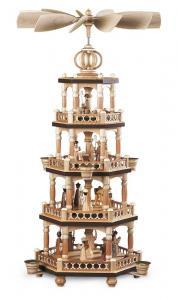 Pyramide Heilige Geschichte 4-stöckig natur