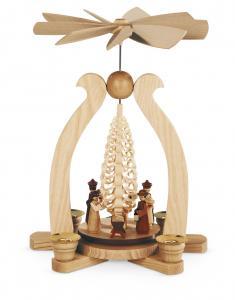 Bogenpyramide Christi Geburt einstöckig natur