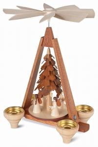Tischpyramide Engel 4 Figuren natur
