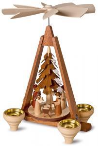 Pyramide Christi Geburt 1 stöckig natur