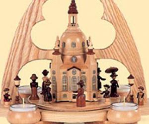 Pyramide Alt Dresden Spitzbogen 1 stöckig natur ,Teelichter