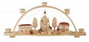 Schwibbogen Frauenkirche Dresden mit Coselpalais für Wachskerzen