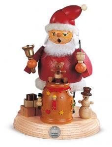 Räuchermann Weihnachtsmann auf Sockel