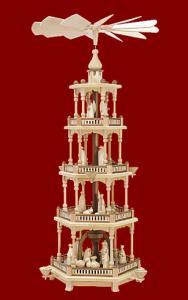 Pyramide natur, 4-stöckig mit Christi Geburt