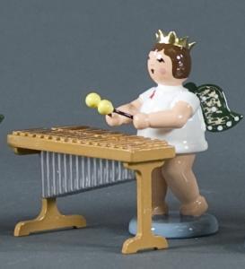 Engel mit Xylophon mit Krone