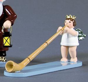 Engel mit Alphorn mit Krone
