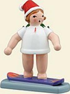 Weihnachtsengel mit Snowboard mit Mütze NEU 2008