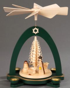 Tischpyramide grün Christi Geburt