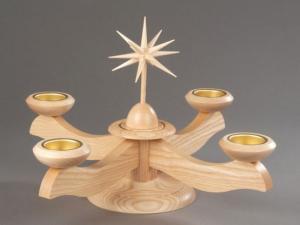 Adventsleuchter groß natur ohne Engel für Teelichter