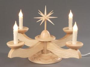 Adventsleuchter groß natur ohne Engel elektrisch beleuchtet