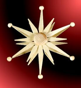 Stern zum Aufstecken auf Schwibbogen 6 Stück