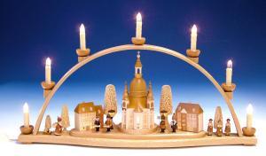 Schwibbogen Dresdner Frauenkirche komplett innenbeleuchtet