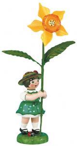 Blumenmädchen mit Narzisse 11 cm