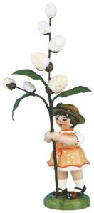 Blumenmädchen mit Maikätzchen 11 cm