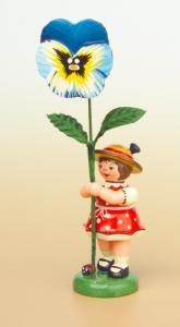 Blumenmädchen mit Stiefmütterchen 11 cm