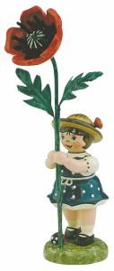 Blumenmädchen mit Mohnblume 11 cm