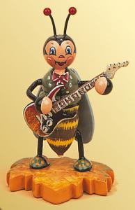 Hummelmännchen mit E-Gitarre