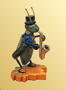 Grille mit Saxophon