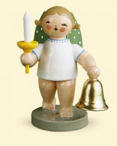 Grünhainichener Engel® mit Glocke und Kerze