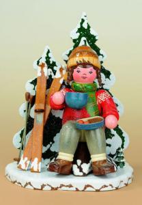 Winterkinder Räuchermann Schneeschuhfahrerin NEU 2009