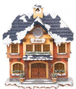 Winterkinder Winterhaus Schule elektrisch
