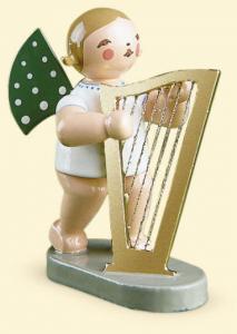 Grünhainichener Engel® mit Harfe, groß