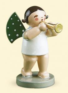 Grünhainichener Engel mit Flöte