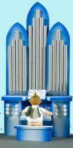 Orgel mit Engel mit Krone