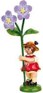 Blumenmädchen mit Flachs