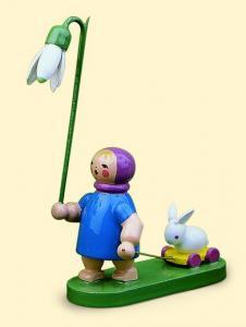 Wendt & Kühn Blumenkind Frühling-Mädchen mit Schneeglöckchen