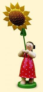 Blumenkinder Mädchen mit Sonnenblume