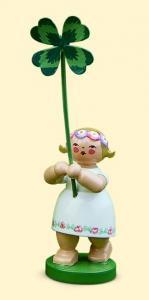 Blumenkinder Mädchen mit Kleeblatt