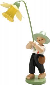 Blumenkinder Junge mit Narzisse