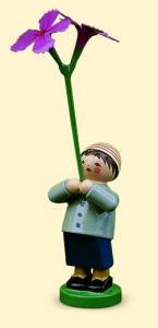 Blumenkinder Junge mit Nelke