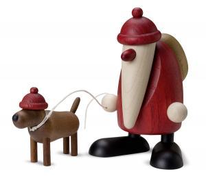 Björn Köhler-Weihnachtsmann mit Dackel Waldemar