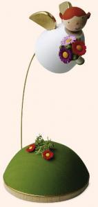 Schutzengel mit Blume am Ständer, schwebend