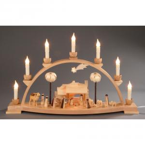 Seiffener Schwibbogen Christi Geburt elektrisch beleuchtet