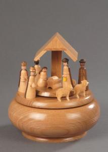 Seiffener Spieldose Motiv Christi Geburt