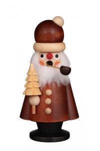 Räuchermann Weihnachtsmann natur mini