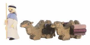 1 Treiber  und 2 liegende Kamele gebeizt, 3-teilig